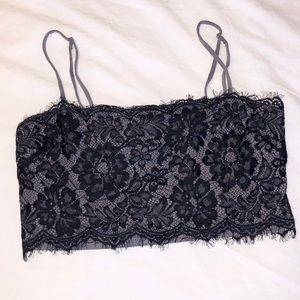 NWOT | Free People Lace Bandeau Top | XS/S